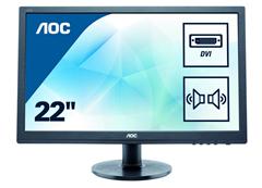 Bild zu AOC Monitor E2260SDA (22″) (LCD-Display, 1.680×1.050, TN, 5ms, 250cd/m², VGA, DVI, Lautsprecher) für 79,90€ (Vergleich: 109,89€)