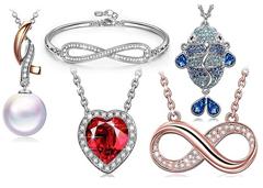 Bild zu Susan Y Damen Schmuck mit Kristallen von Swarovski (in Geschenkbox, Nickelfrei) ab 9,99€