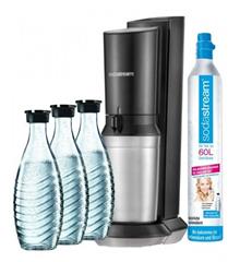 Bild zu Sodastream Crystal 2.0 Wassersprudler  Titan inkl. 1 CO2-Zylinder & 3 Glaskaraffen für 94,23€ (Vergleich: 117,84€) – Saturn Card