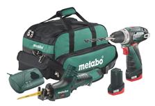 Bild zu Metabo 10.8V Akku Bohrschrauber BS + ASE Akku Säbelsäge in Tasche für 111,45€ (Vergleich: 181,49€)