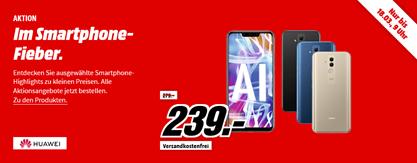 Bild zu MediaMarkt Smartphone Fieber, z.B. Huawei Y6 (2018) 16GB Samrtphone für 89€