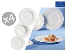 Bild zu Villeroy & Boch Twist White Tellerset 12-teilig für 58,90€ (Vergleich: 82,85€)
