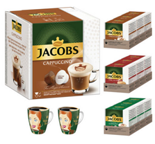 Bild zu JACOBS Kaffeekapseln (126 Stück, NESCAFÉ® DOLCE GUSTO kompatibel) + 2 Ritzenhoffbecher für 22,90€ (Vergleich: 35,91€)