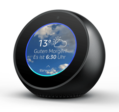 Bild zu AMAZON Echo Spot Smart Speaker mit Sprachsteuerung für 104,98€ inkl. Versand (Vergleich: 129€ inkl. Versand)
