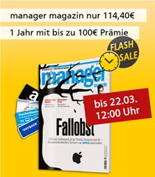 Bild zu Deutsche Post Leserservice: Jahresabo Manager Magazin für 109,40€ + bis zu 100€ Prämie