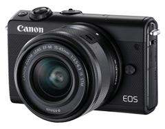 Bild zu Canon EOS M100 Systemkamera (24,2 MP, WLAN, NFC, Bluetooth) Kit EF-M 15-45mm für 249€ (Vergleich: 355,99€)