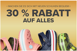 Bild zu Crocs: 30% Rabatt auf alles + kostenlose Lieferung