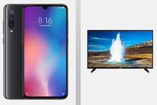 Bild zu Xiaomi Mi 9 + Telefunken 48 Zoll LED Smart-TV mit Vodafone Smart L + (7GB LTE, SMS und Sprachflat) für 36,99€/Monat