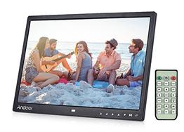 """Bild zu Andoer 15"""" Digitaler LED Bilderrahmen (1280 x 800) mit Fernbedienung und MP3/MP4 Unterstützung für 50,39€"""