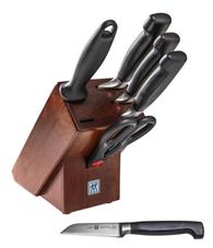 Bild zu ZWILLING Messerblock VIER STERNE Holzblock in Walnussfarben für 104,44€ (Vergleich: 152,95€)