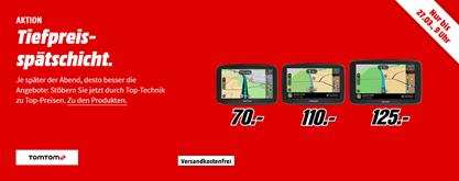 Bild zu MediaMarkt Tiefpreisspätschicht mit Navis von TomTom