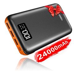 Bild zu KEDRON Powerbank 24000mAh (Externer Akku, mit Lightning & Micro, 2 Eingänge, 3 Ausgänge) für 20,29€