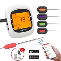 Bild zu digitales Grillthermometer mit 4 Sonden (inkl. App Steuerung) für 20,99€