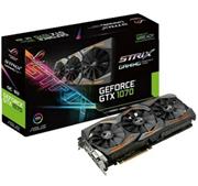 Bild zu ASUS GeForce® GTX 1070 ROG Strix 8GB Gaming (NVIDIA, Grafikkarte) für 299,90€ (Vergleich: 350,99€)