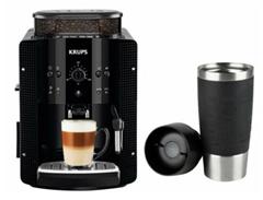 Bild zu KRUPS EA 8108 Espresso-Kaffeevollautomat + Emsa Travel Mug Isolierbecher Schwarz für 199,90€