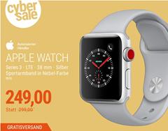 Bild zu Apple Watch Series 3 LTE 38mm Aluminiumgehäuse Silber mit Sportarmband Nebel für 249€ (Vergleich: 306€)