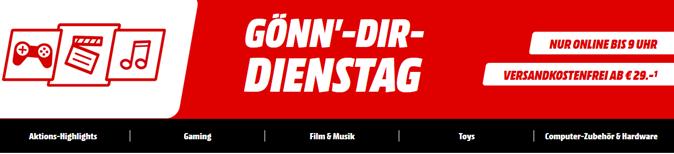 """Bild zu MediaMarkt """"Gönn dir Dienstag"""" mit Gaming, Filmen, Musik, Toys & Computerzubehör"""