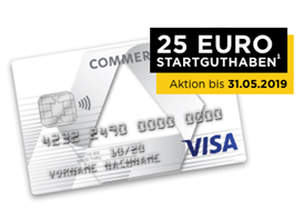 Bild zu [endet heute] Commerzbank Visa Prepaid Kreditkarte im ersten Jahr kostenlos + 25€ Startguthaben