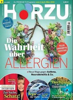 """Bild zu Jahresabo (52 Ausgaben) der TV-Zeitschrift """"Hörzu"""" für 114,60€ + bis zu 110€ Prämie"""