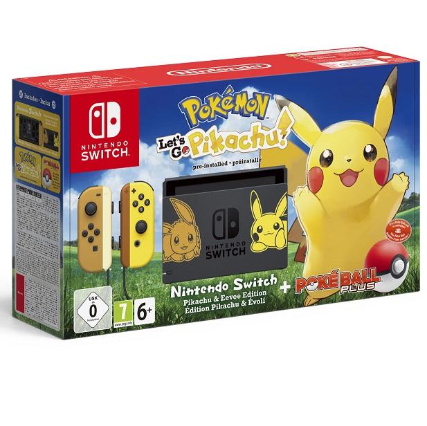 Bild zu Nintendo Switch Pokémon: Let's Go, Pikachu! Bundle für 333€ (Vergleich: 387,90€)