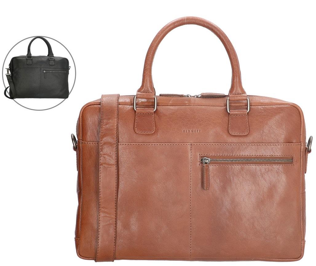 Bild zu Old West Laptoptasche aus Leder (15,6 Zoll) für 60,90€ (Vergleich: 77,94€)