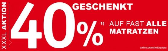 Bild zu XXXLutz Online-Shop: 40% Rabatt auf fast alle Matratzen