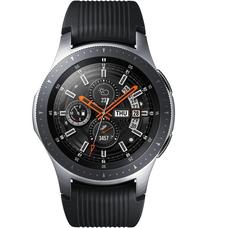 Bild zu Smartwatch Samsung Galaxy Watch 46mm Edelstahl inklusive zwei Ersatzarmbändern für 229€ (Vergleich: 259€)