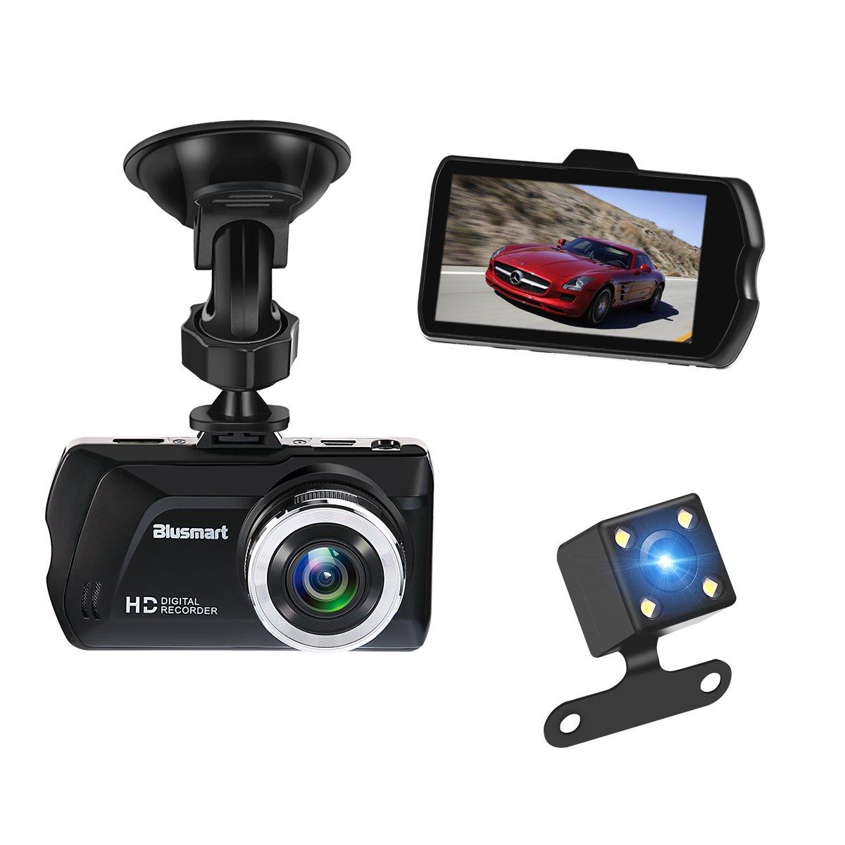 Bild zu 3 Zoll Full HD Dash Cam 170° weitwinkel Kamera und Video Kanal für Rückfahrkamera mit 16 GB Speicherkarte für 19,99€