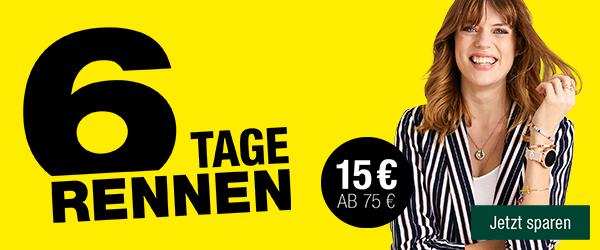 Bild zu Galeria Kaufhof: 6 Tage-Rennen – 15€ Rabatt auf viele Artikel (MBW: 75€)