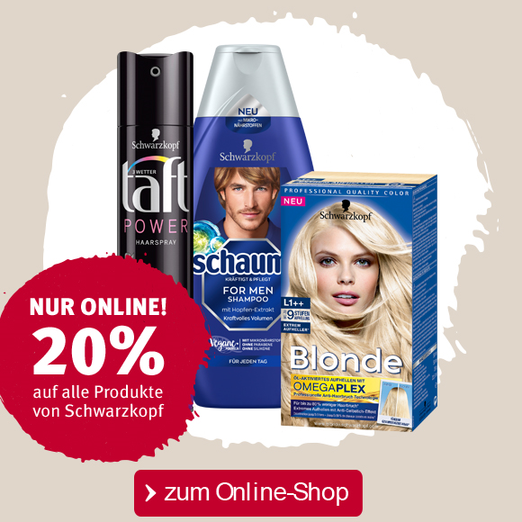Bild zu Rossmann: 20% Rabatt auf alle Produkte von Schwarzkopf