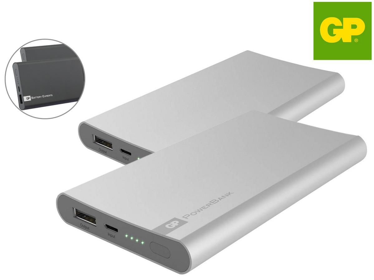 Bild zu GP Portable Powerbank FP05M 5000 mAh im Doppelpack für 16,90€ (Vergleich: 36,32€)