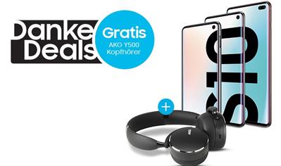 Bild zu Gratis AKG Y500 Wireless-Kopfhörer beim Kauf/Vertragsabschluss eines Samsung Galaxy S10e I S10 I S10+