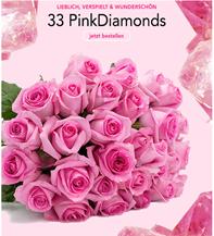 """Bild zu Blume Ideal: Blumenstrauß """"PinkDiamonds"""" mit 33 pinken Rosen (50cm Stiellänge) für 19,98€"""