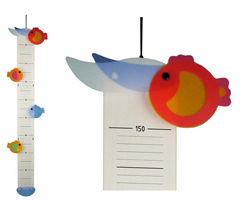 Bild zu Niermann Messlatte 945 Mira Fische mehrfarbig für 28,94€ (Vergleich: 37,20€)