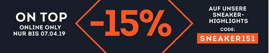 Bild zu SportScheck: 15% Extra Rabatt auf Sneaker Highlights