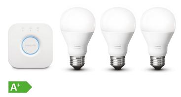 Bild zu Philips Hue White Starter, Set 3 Glühlampen + Bridge für 59,99€ (Vergleich: 74,11€)