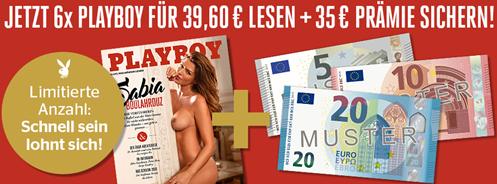 Bild zu bis zu 7 Ausgaben Playboy für 39,60€ + 35€ Barprämie (Scheck)