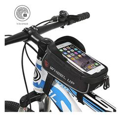 Bild zu Hikenture Fahrradtasche (wird mit Fingerabdruck entsperrt, wasserdicht, geeignet für Handys bis 6 Zoll) für 12,53€