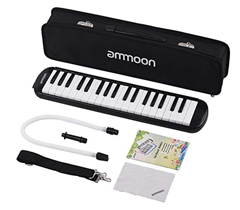 Bild zu ammoon Melodica Mundharmonika (37 Tasten) mit Mundstück, Reinigungstuch und Tragetasche für 21,74€