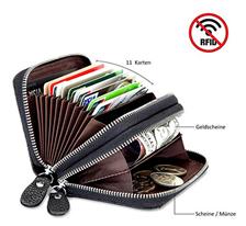 Bild zu Lebexy Mini-Geldbörse aus Leder (Platz für 11 Karten) für 9,23€