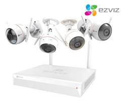 Bild zu Ezviz Überwachungssystem (X5C-4) mit 4 Husky- Air Kameras für 308,90€ (Vergleich: 446,35€)