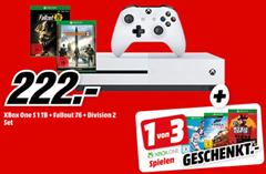 Bild zu Xbox One S 1 TB + The Division 2 + Fallout76 + weiteres Spiel (z. B. Red Dead Redemption 2) für 222€ oder als XBox One X Bundle für 429€