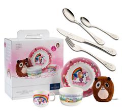 Bild zu Villeroy & Boch Lily in Magicland Kinder-Geschirr-Set 4-teilig + Kinderbesteck 4-teilig für 29,95€ (Vergleich: 59€)