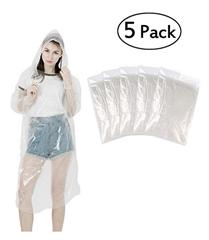 Bild zu LEBEXY Regenponcho mit Kapuze (5er Pack) für 3,99€