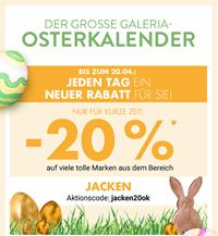 Bild zu Galeria Kaufhof: 20% Rabatt auf den Bereich Jacken