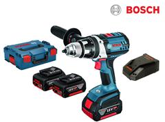 Bild zu [Top] Bosch 18-V-Akku-Bohrschrauber GSR 18 VE-2-LI mit 3x Akkus (5.0 Ah) für 265,90€ (VG: ~430€)