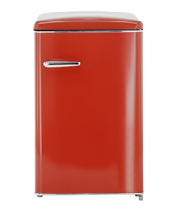 Bild zu Exquisit RKS 120-16 RVA++ Kühlschrank – Rot, Retro-Design für 249€