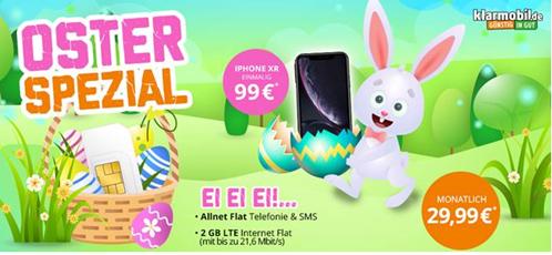 Bild zu iPhone XR 64 GB für einmalig 99€ inkl. 2GB LTE Vodafone Allnet Flat für 29,99€/Monat