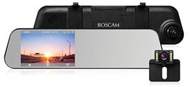 Bild zu BOSCAM R1 Dashcam Rückspiegel Rückfahrkamera (Autokamera Vorne und Hinten) für 61,19€