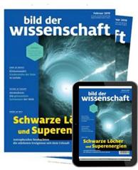 """Bild zu Jahresabo (12 Ausgaben) der Zeitschrift """"Bild der Wissenschaft"""" mit E-Kombi ab 127,52€ + bis zu 125€ als Prämie"""